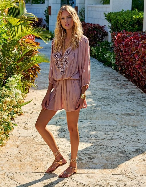Nadja Embroided Beach Dress Sydney luxury resort swimwear sydney